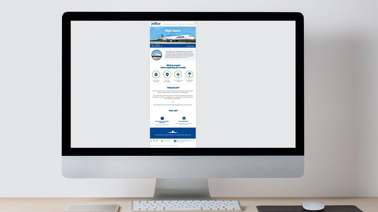 JetBlue Email Marketing Image