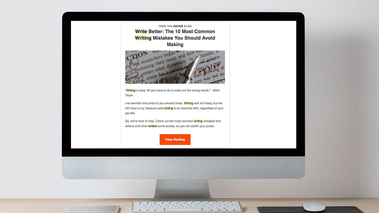 Zapier Email Marketing Image